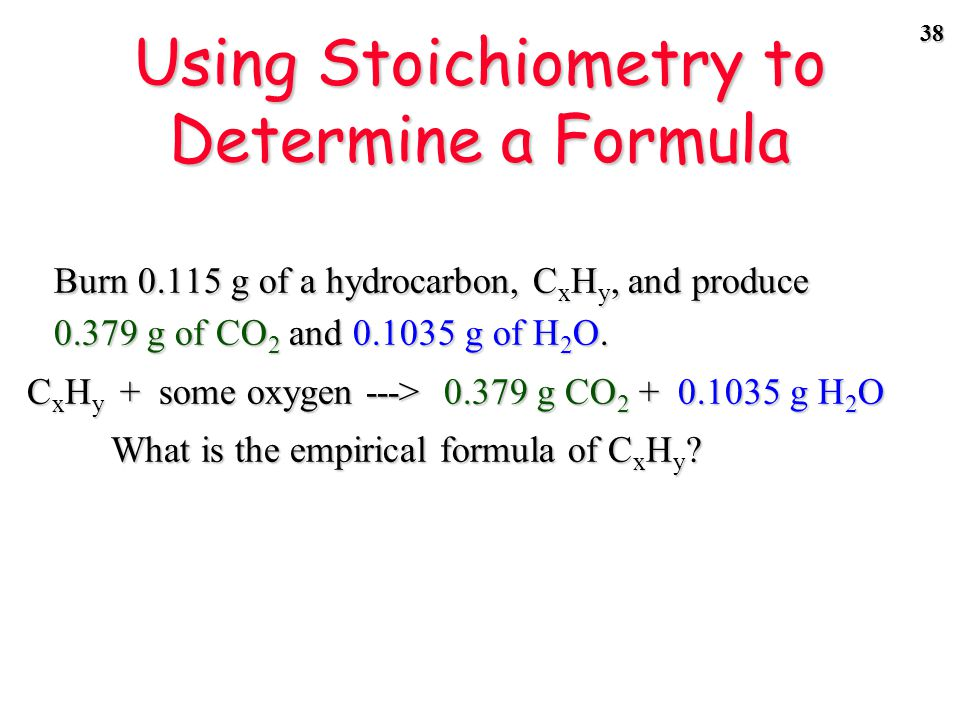 37 Determining the Formula of a Hydrocarbon by Combustion CCR, page 138