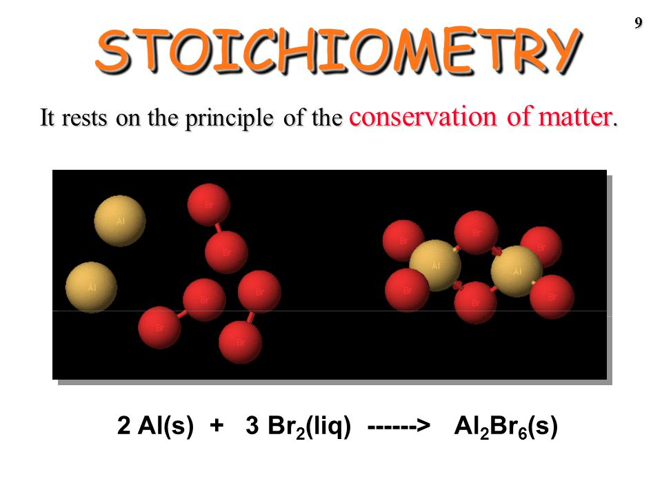8 STOICHIOMETRYSTOICHIOMETRY - the study of the quantitative aspects of chemical reactions.
