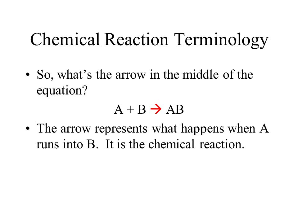 Chemical Reaction Terminology Making cookies is a lot like a chemical reaction.
