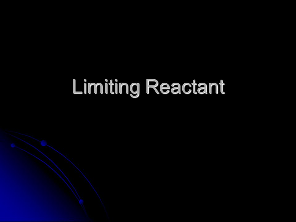 Finding the Amount of Excess By calculating the amount of the excess reactant needed to completely react with the limiting reactant, we can subtract that amount from the given amount to find the amount of excess.