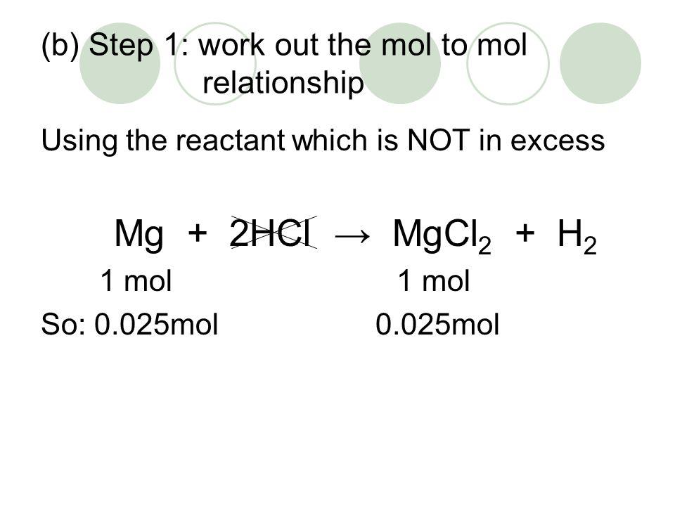 (b) Calculate the mass of salt m = n x gfm = 0.025 x 95.3 = 2.38g