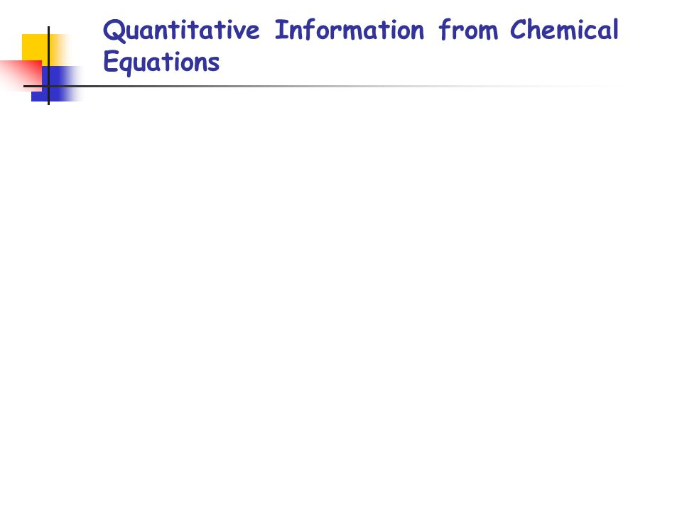 Quantitative Information from Chemical Equations