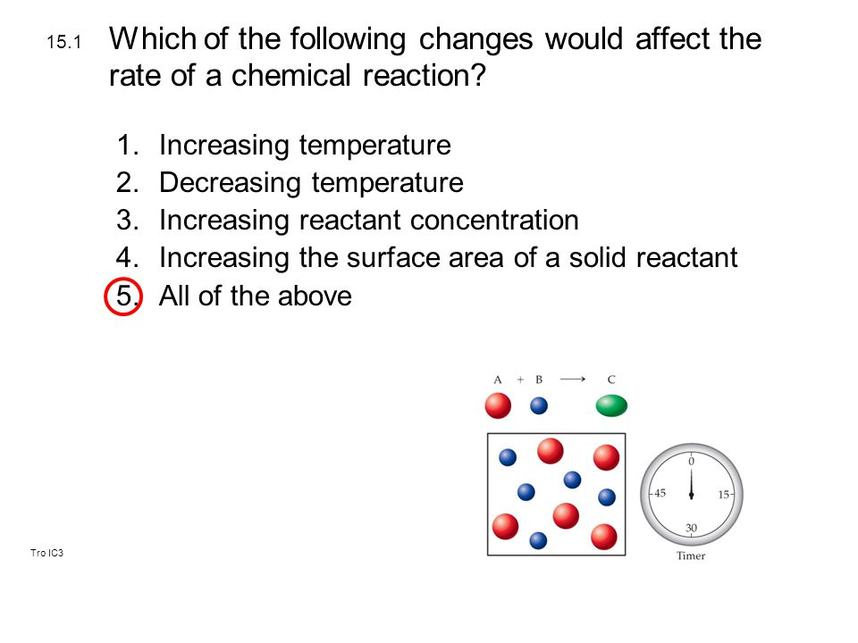 Tro IC3 1.Reactants must collide with enough energy to be able to form products.
