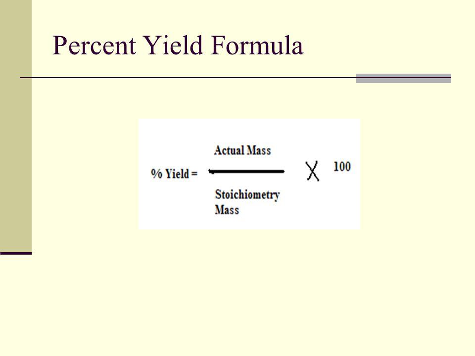 Percent Yield Formula