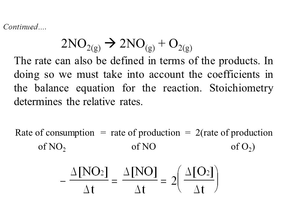 A Summary (continued) 4.Most common: method of initial rates.