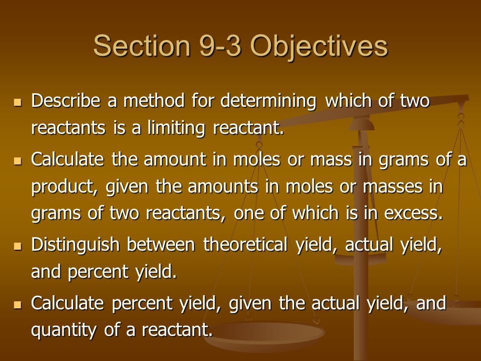Percent Yield The amount of products calculated in the stoichiometric problems in this chapter so far represent theoretical yields.