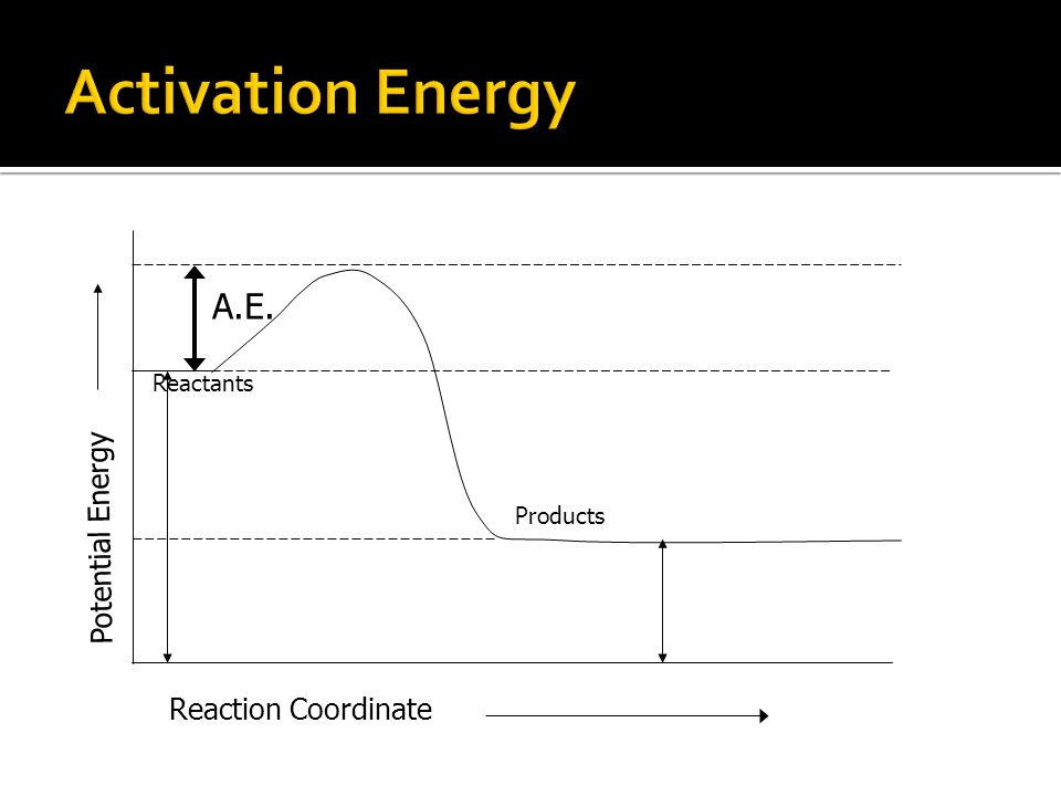 Reaction Coordinate Potential Energy A.E. Products Reactants