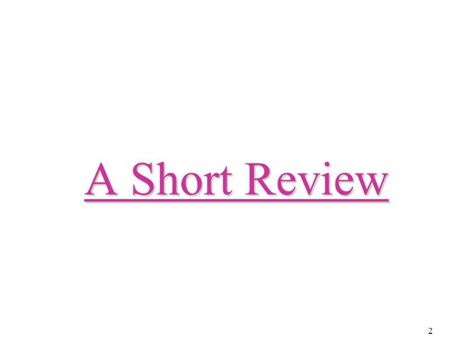 2 A Short Review