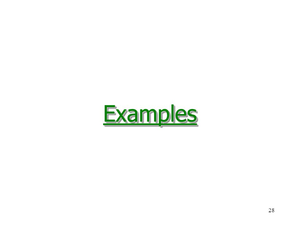 28ExamplesExamples