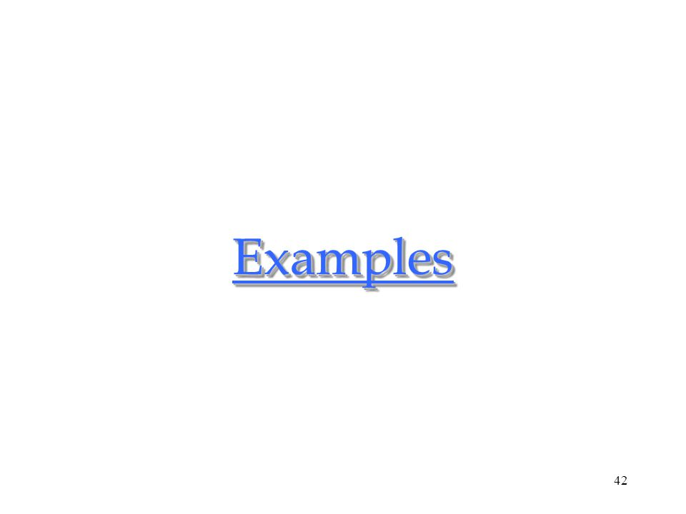 42ExamplesExamples