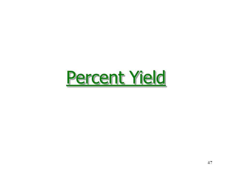 47 Percent Yield