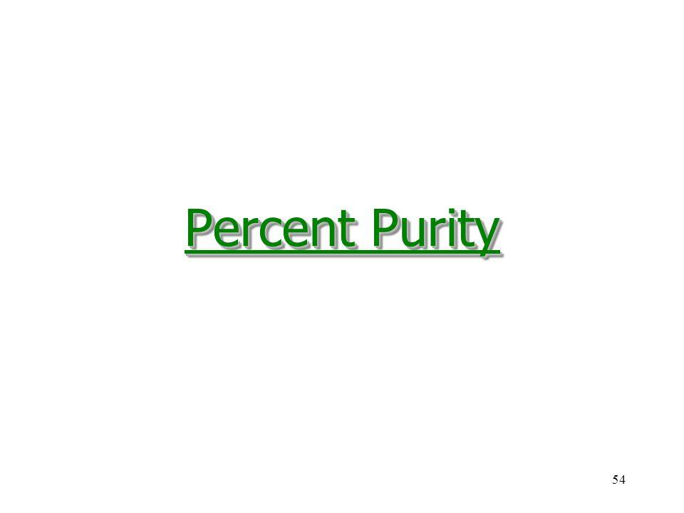 54 Percent Purity