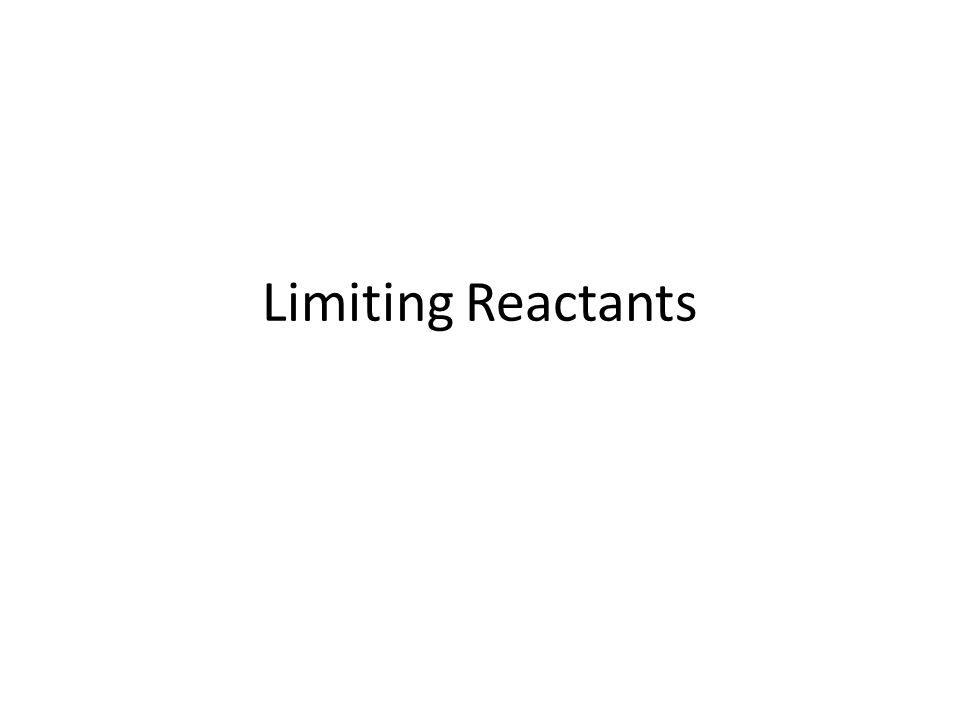 Reactant that is completely used up in a chemical reaction Determines the maximum amount of product that can be formed.
