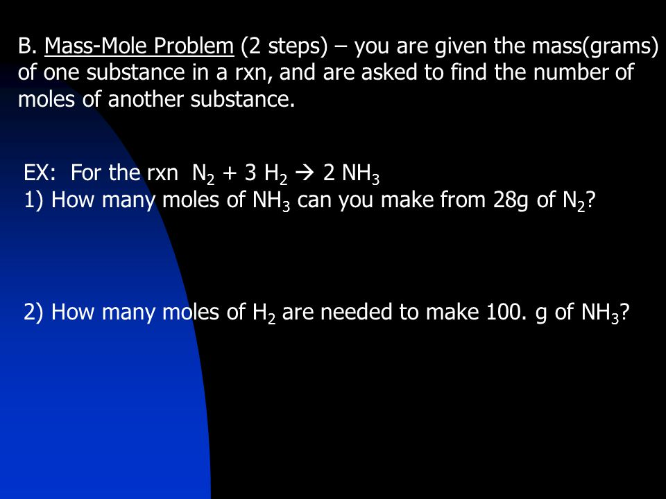 Review: Molarity Molarity (M) = moles of solute liters of solution Molarity is used to convert between volume of solution and moles of dissolved solute.