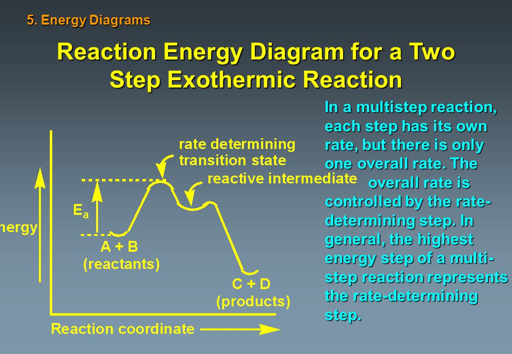 Reaction Energy Diagram for a Two Step Exothermic Reaction 5.