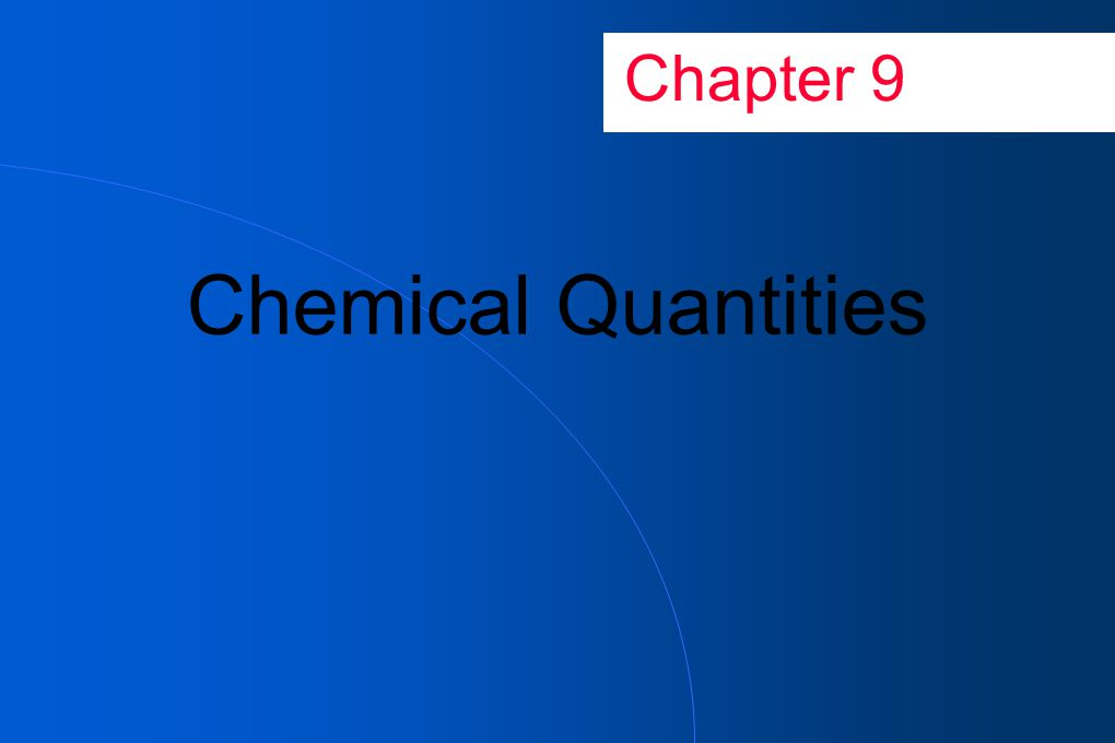 Goals of Chapter 9 Understand molecular and molar mass given in balanced equation Use balanced equation to determine the relationships between moles of reactants and moles of products Relate masses of reactants and products in a chemical reaction Perform mass calculations that involve scientific notation Understand the concept of limiting reactants Recognize the limiting reactant in a reaction Use the limiting reactant to do stoichiometric calculations