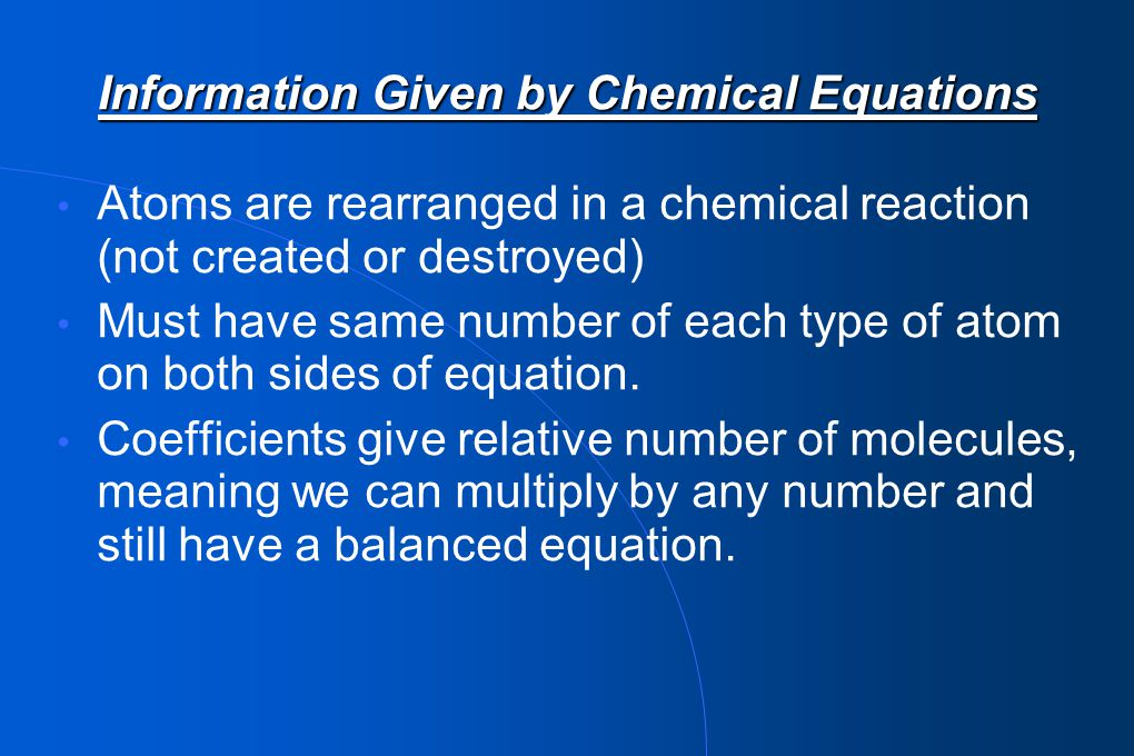 Step 3: Use coefficients in equation to determine moles of oxygen required 1.00 mol C 3 H 8 x 5 mol O 2 = 5.00 mol O 2 1 mol C 3 H 8