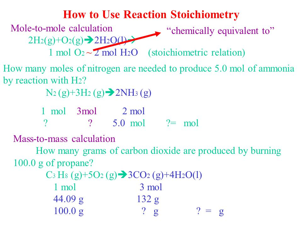 Chapter 4 Chemistry's Accounting: Reaction Stoichiometry Life as an astronaut depends on knowing how much fuel to load for reaching orbit and for surv
