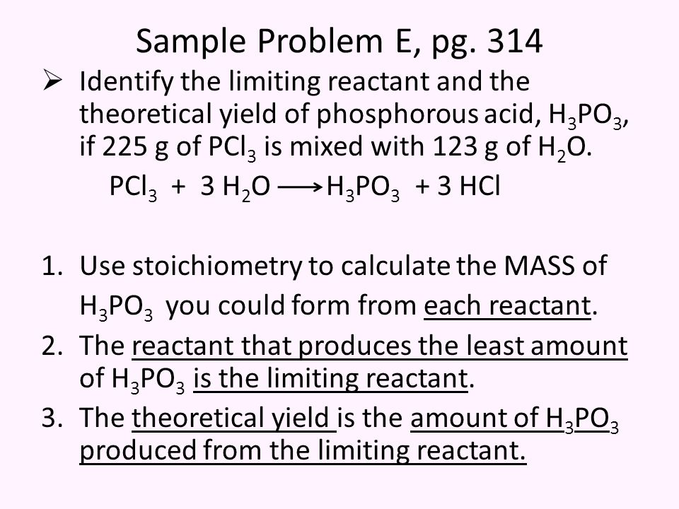 Sample Problem E, pg.
