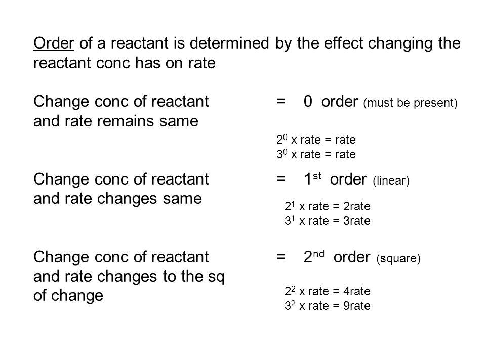 Conc of KI in experiment 1 (0.100 M KI) (10.00 mL) = conc KI 1 30.00 mL Conc of KI in experiment 2 (0.100 M KI) (20.00 mL) = conc KI 2 30.00 mL When compare exp 1what happens.