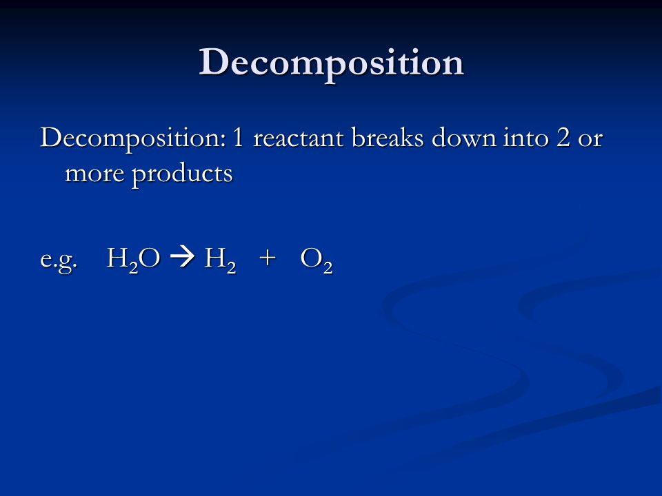 Double Displacement Double Displacement: parts of two compounds switch places e.g.