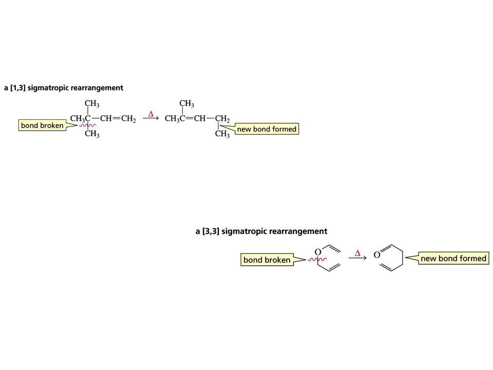 Consider the transition state of the reaction, Sigmatropic rearrangements have cyclic transition states Rearrangement must be suprafacial if the transition state has six or fewer atoms in the ring