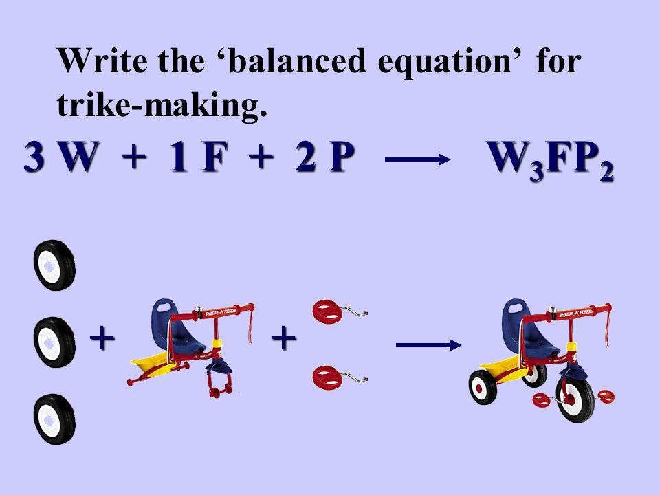 3 W + 1 F + 2 P W 3 FP 2 ++