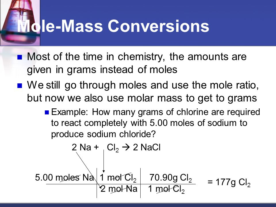 Practice Calculate how many moles of oxygen are required to make 10.0 g of aluminum oxide Calculate how many moles of oxygen are required to make 10.0 g of aluminum oxide