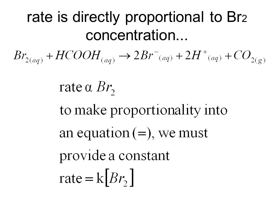 rate is directly proportional to Br 2 concentration...