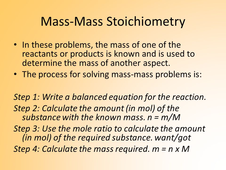 Stoichiometry involving Solutions Many chemical reactions occur between reactants in solution.