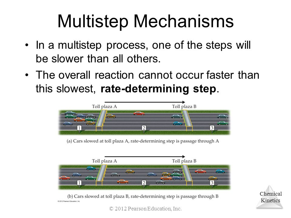 Chemical Kinetics Multistep Mechanisms In a multistep process, one of the steps will be slower than all others. The overall reaction cannot occur fast