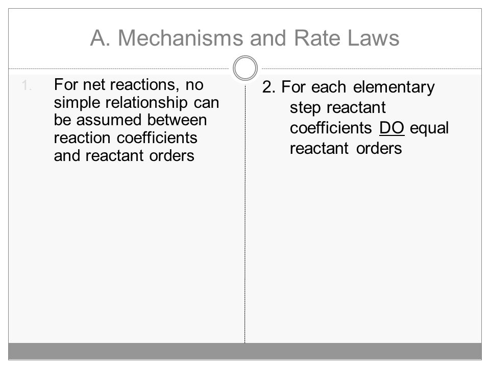 A.Mechanisms and Rate Laws 1.