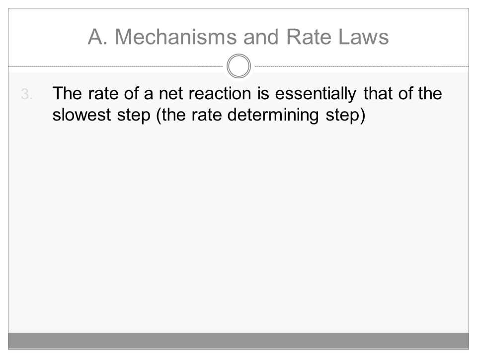 A.Mechanisms and Rate Laws 3.