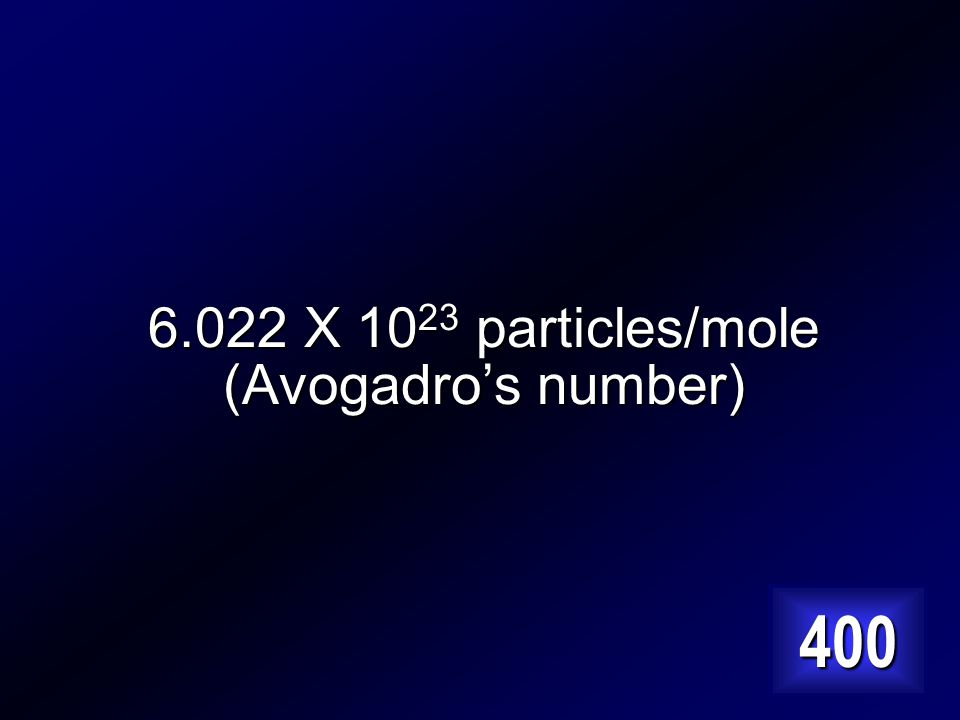 What number do you need to convert to number of atoms/molecules/particles Answer…