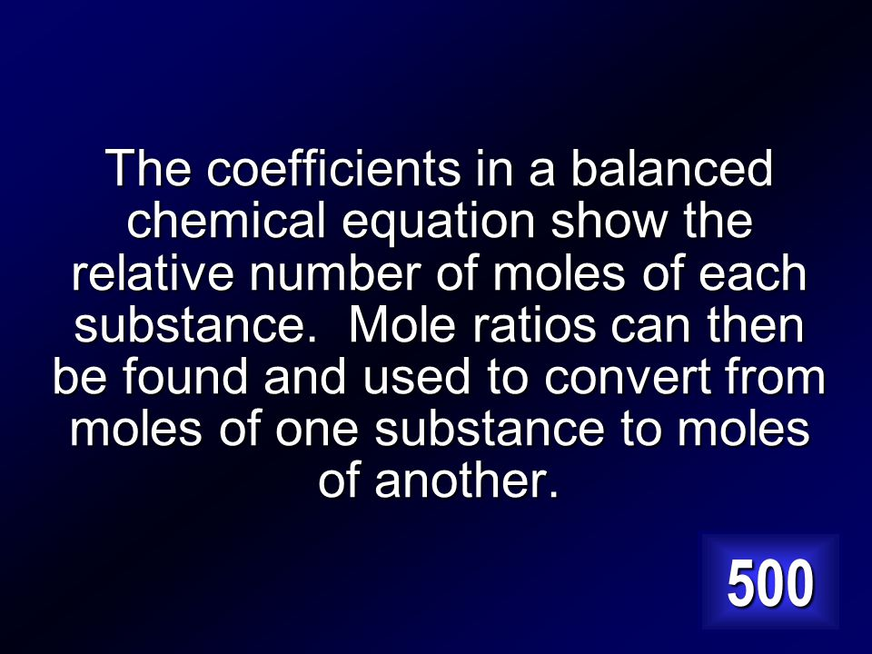 Why must a chemical equation be balanced to solve stoichiometry problems Answer…