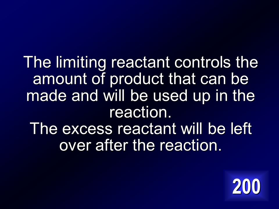 Explain the difference between a limiting reactant and an excess reactant. Answer…