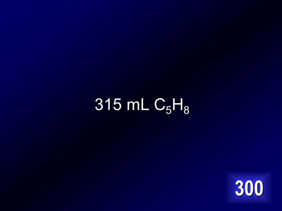 How many mL of C 5 H 8 can be made from 366 mL of C 5 H 12 .