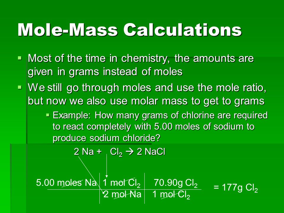 Mass-Mole Calculations  Calculate how many moles of oxygen are required to make 10.0 g of aluminum oxide