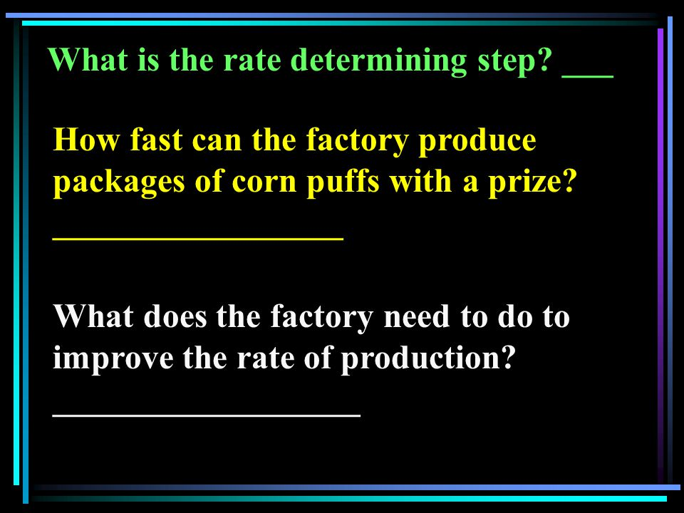 What is the rate determining step.