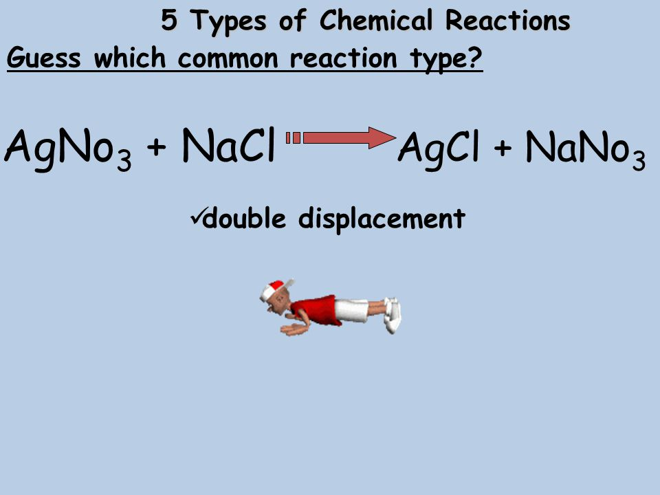5 Types of Chemical Reactions Guess which common reaction type.