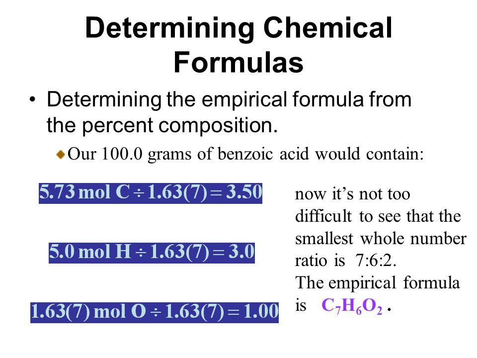 molecular formula from the empirical formula.