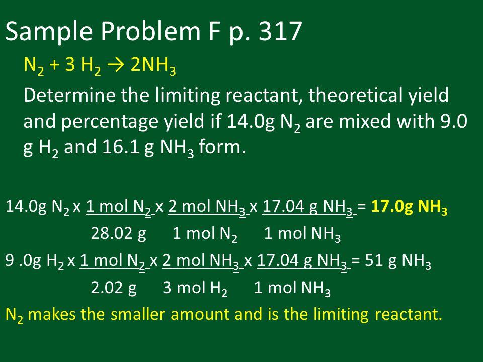 Sample Problem F p.