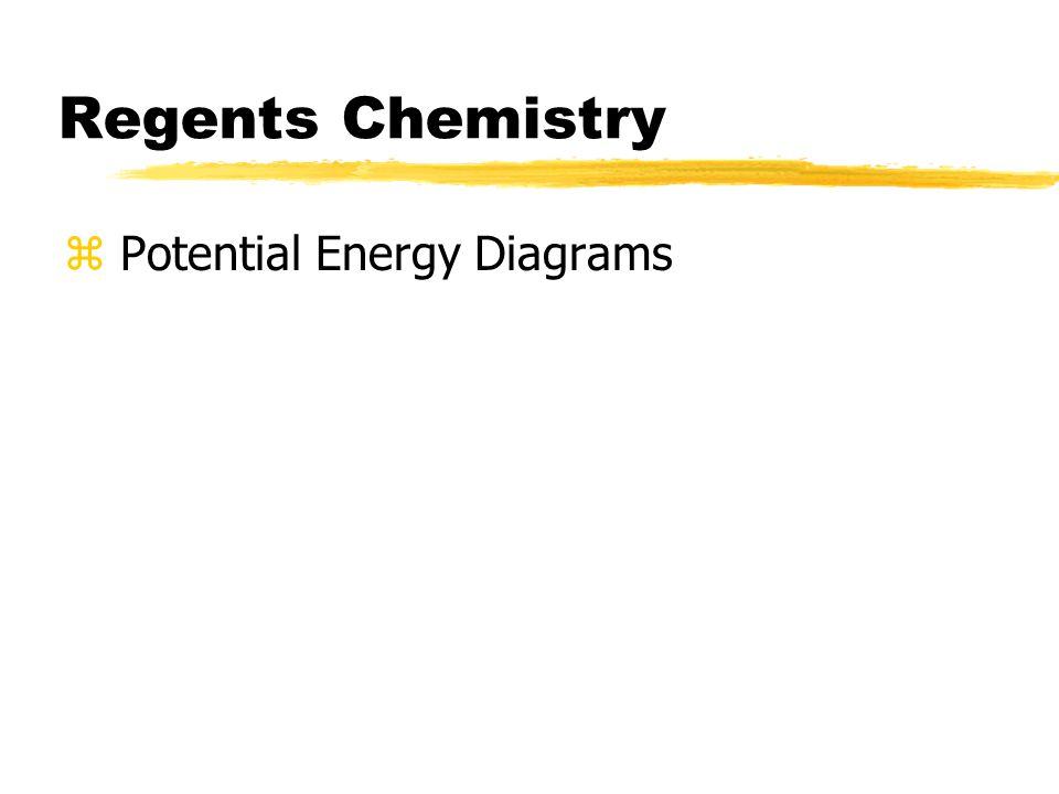 Regents Chemistry z Potential Energy Diagrams
