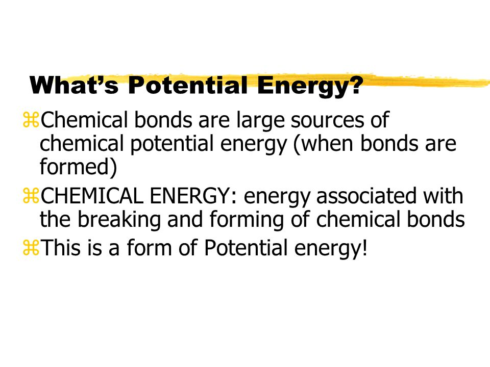 What's Potential Energy.