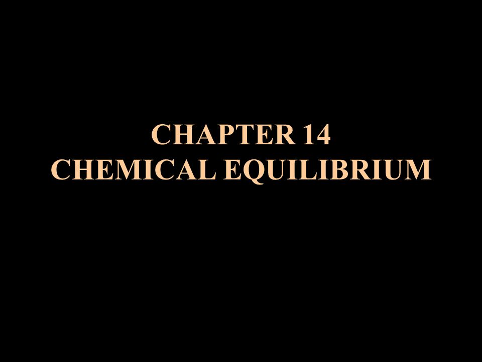 VI.Shifting Chemical Equilibriums A. Le Chatelier's Principle 1.
