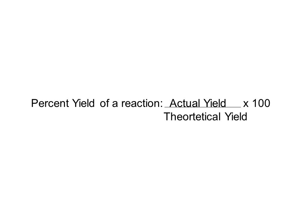 Percent Yield / Limiting Reactant Problem - I Problem: Ammonia is produced by the Haber Process using Nitrogen and Hydrogen Gas.