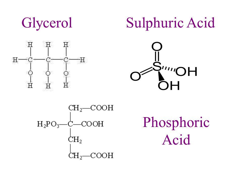 GlycerolSulphuric Acid Phosphoric Acid