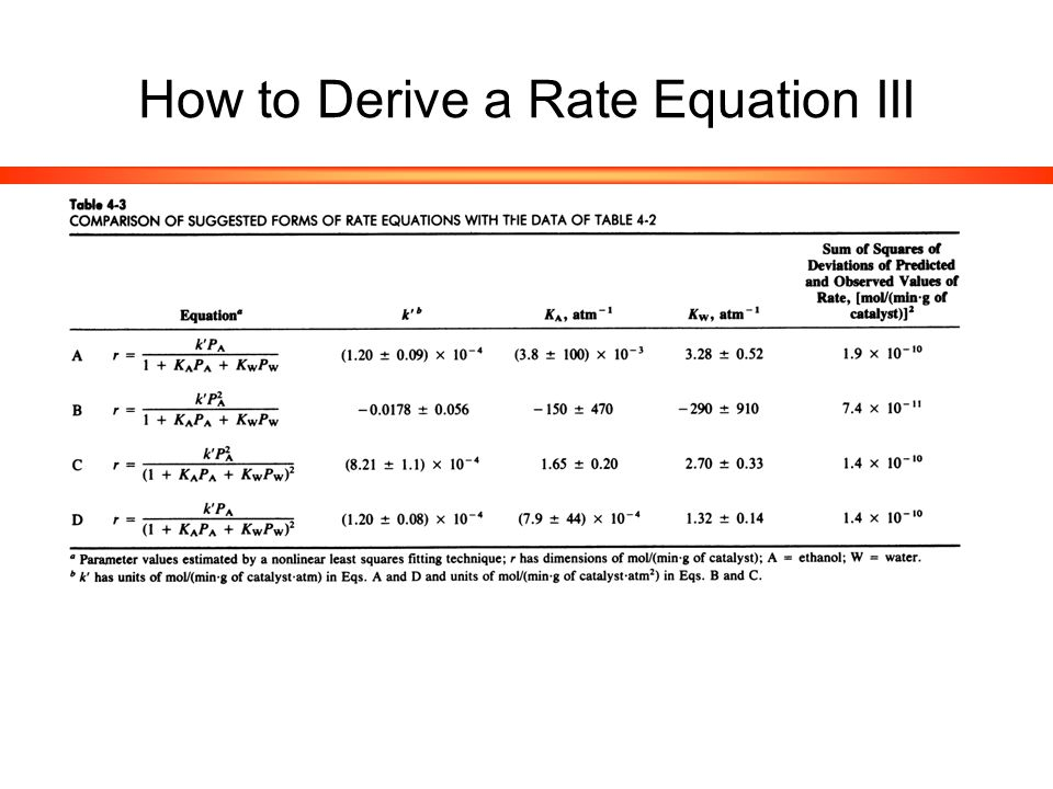 How to Derive a Rate Equation III