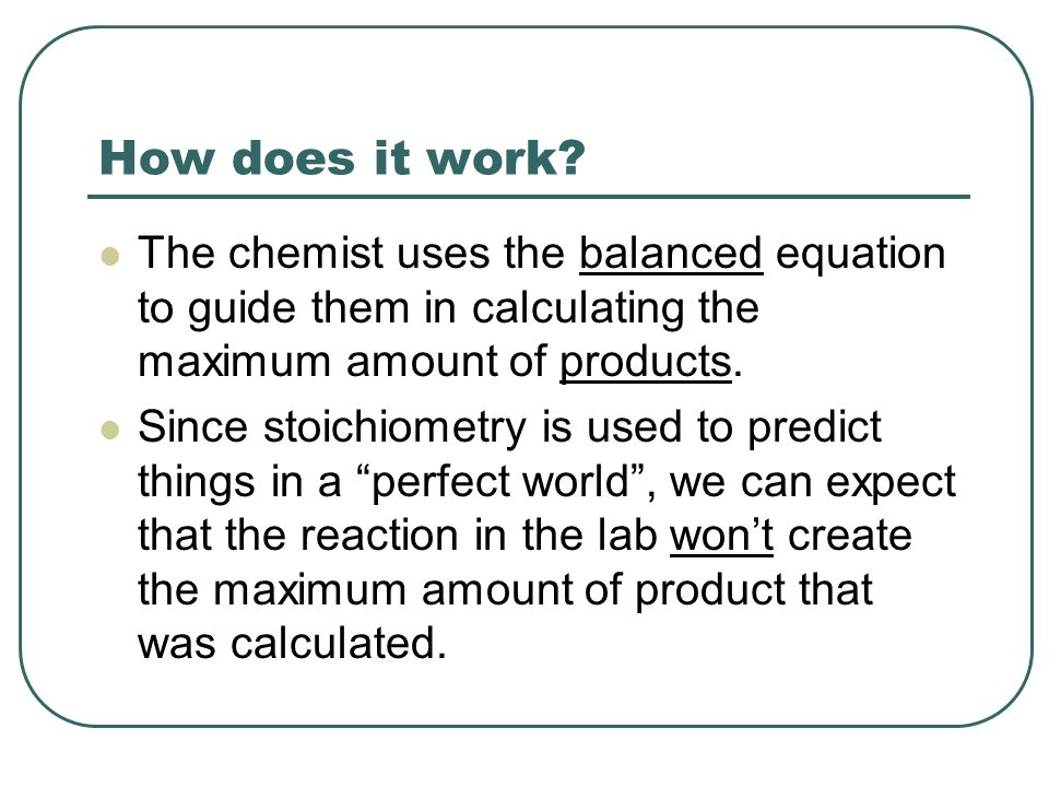Percent Yield Theoretical Yield: The maximum quantity of product that can be obtained, according to the reaction stoichiometry, from a given quantity of reactant actually Actual Yield: The quantity of product actually obtained from experimentation Percentage Yield = Actual Yield Theoretical yield X 100%