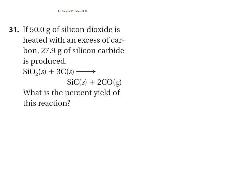 for Sample Problem 12.10